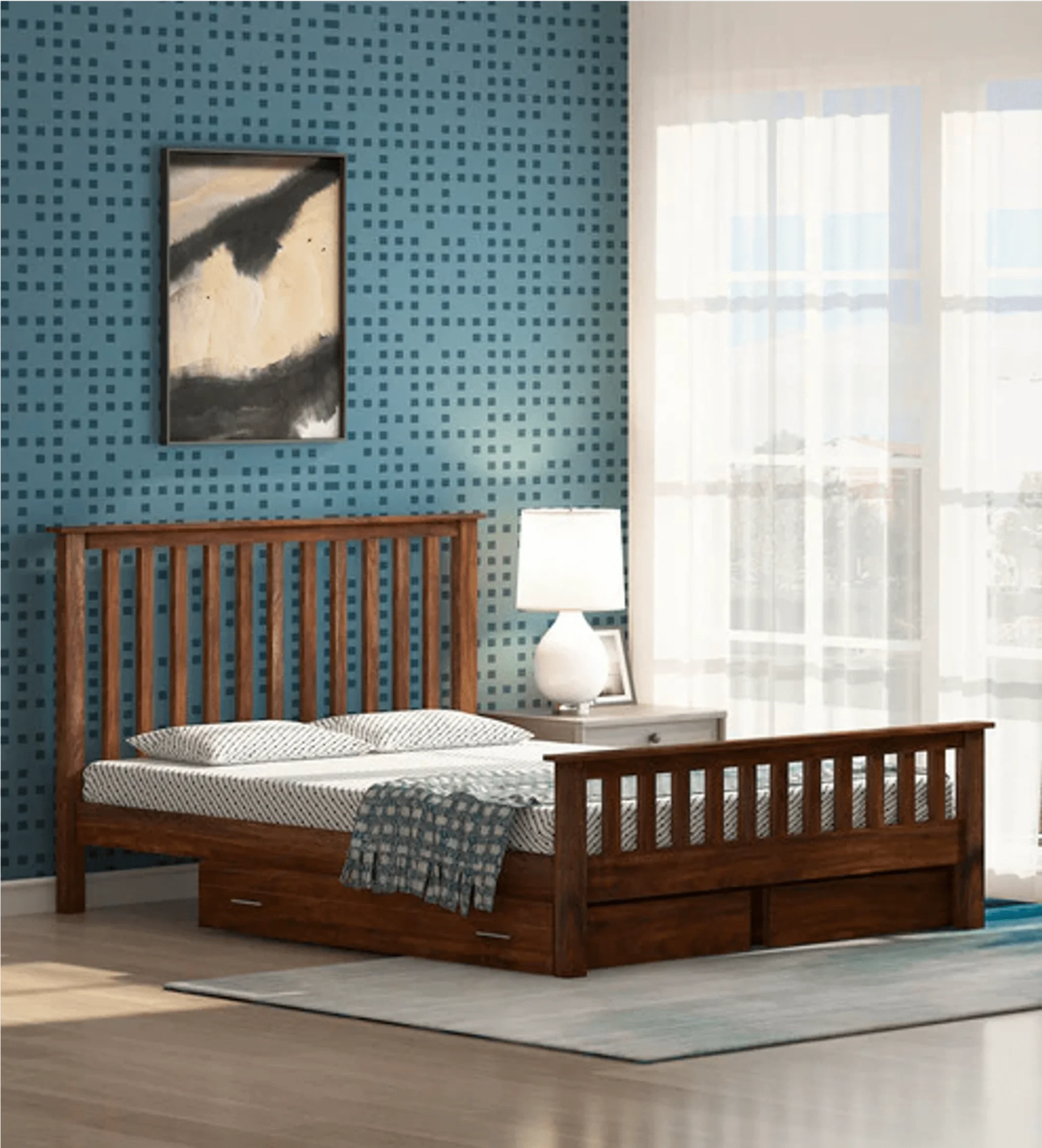 Athens Bed in Brown Color