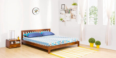 Romanic Bed in Brown Color