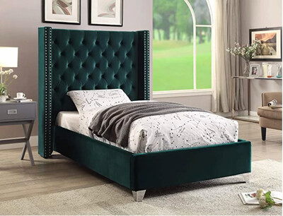 Uno Wing Bed in Green Color