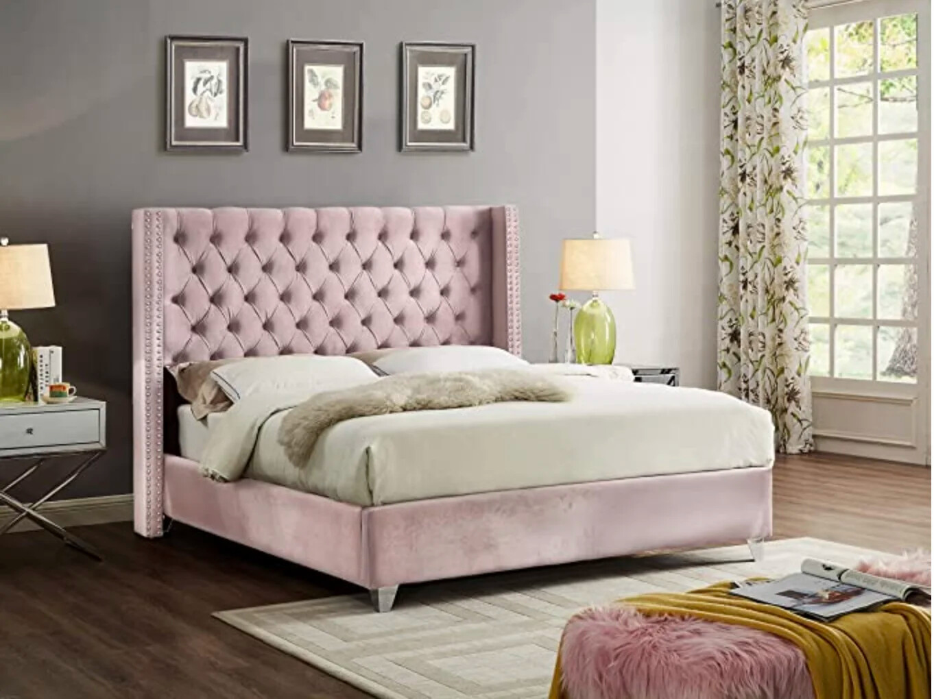 Uno Wing Bed in Pink Color