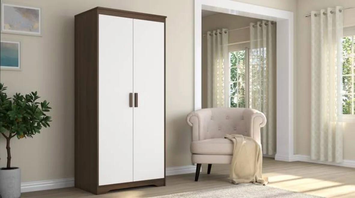 Rexon Two Door Wardrobe in White Color
