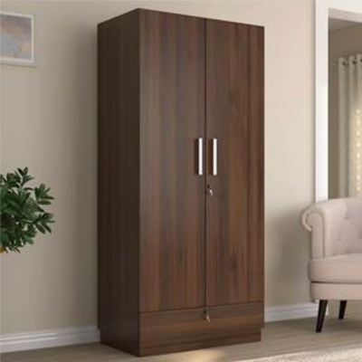 Baccam Two Door Wardrobe in Brown Color