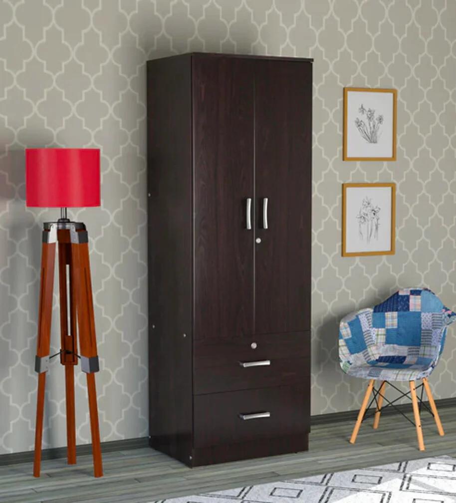 Classic Single Person Wardrobe in Brown Color