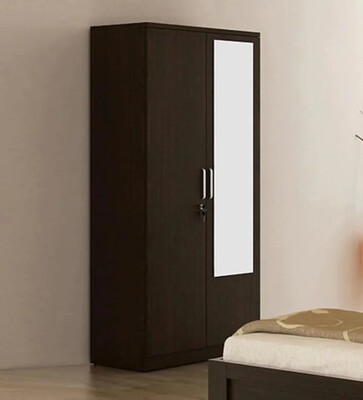 Chronic Two Door Wardrobe in Brown Color