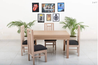 Rome Dining Table in Beige Color