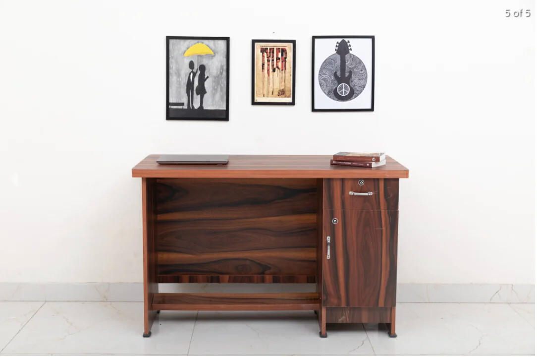 Uno Study Table in Brown Color