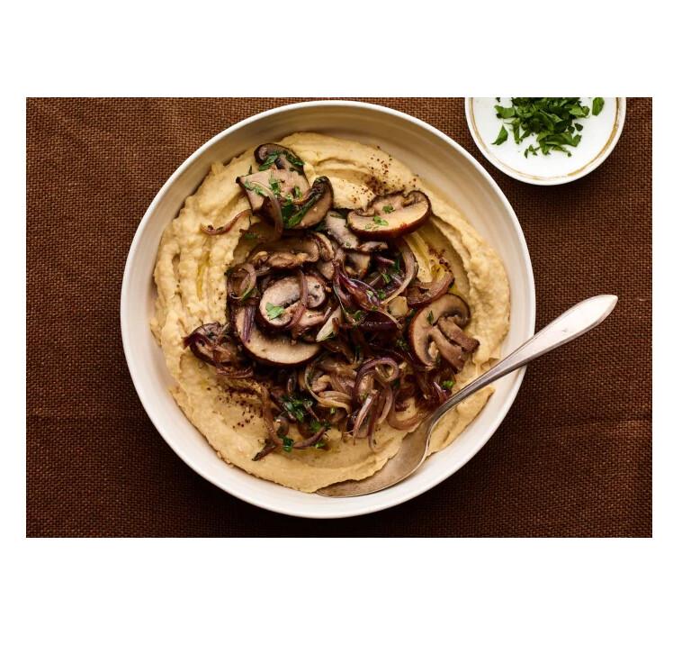 Sauteed Mushroom Hummos
