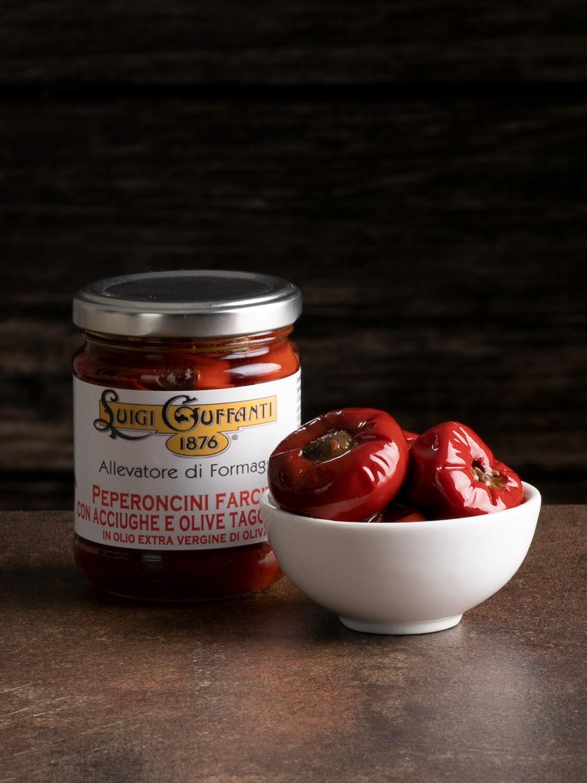 Peperoncini farciti con Acciughe e Olive Taggiasche 200 gr