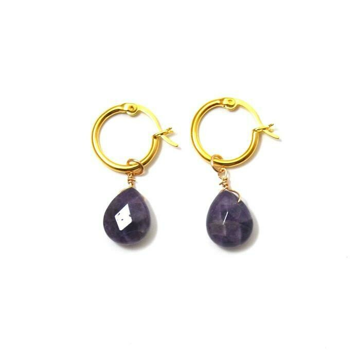 FYB Kaia Earrings Amethyst