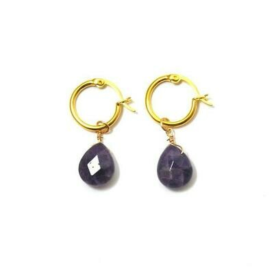 FYB Kaia Earrings Amethyst