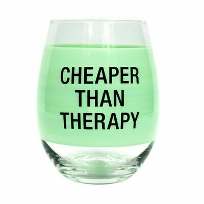Cheaper than Therapy Wine Tumbler