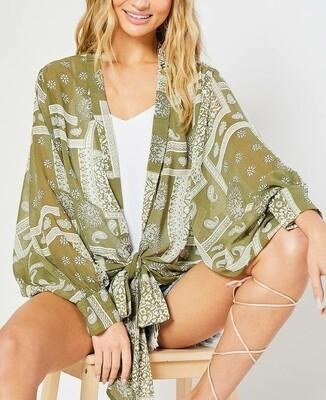 BluIvy Kimono - Green