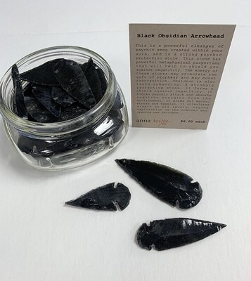 Black Obsidian Stone - Arrowhead