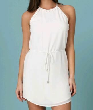 DETAIL DRESS WITH SELF TIE