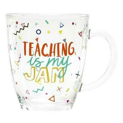 Teaching is My Jam Glass Mug
