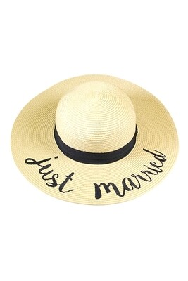 Just Married Beach Hat