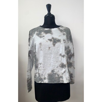 Tie Dye Pullover - Grey
