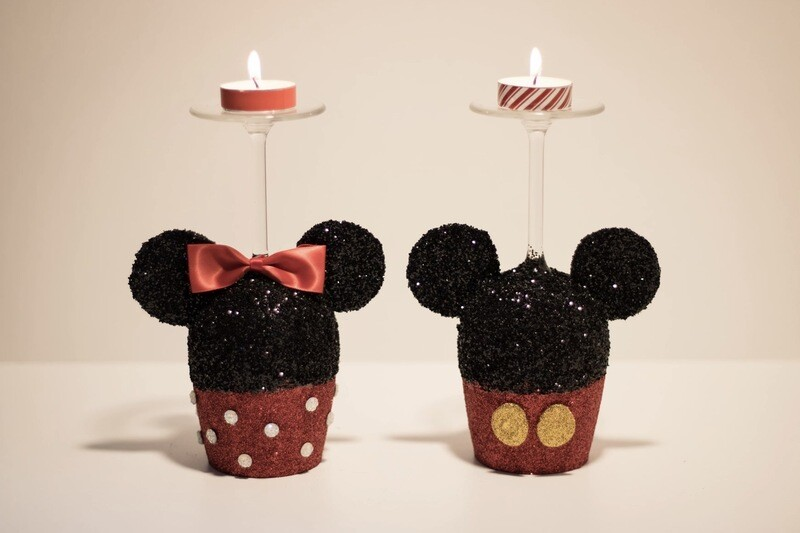 Duo bougeoirs Mickey et Minnie