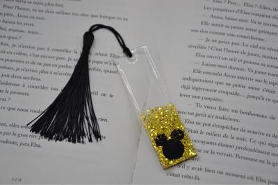 Petit Marque page Mickey - paillettes dorées