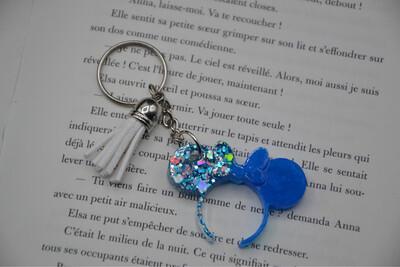 Porte-clefs serre-tête Minnie - turquoise