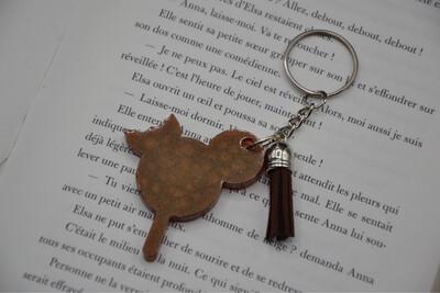 Porte-clef Glace Mickey - Marron