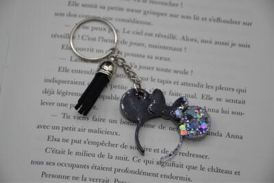 Porte-clefs serre-tête Minnie - noir