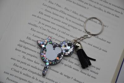 Porte-clefs Glace Mickey- noir et argent