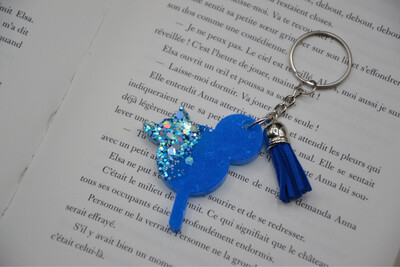 Porte-clef Glace Mickey- Turquoise