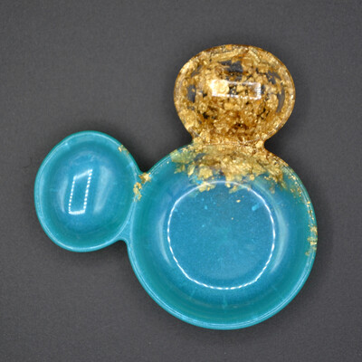 Coupelle à bijoux Mickey - vert d'eau et or