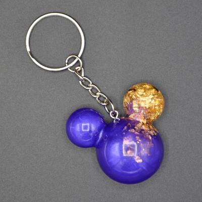 Porte-clefs Mickey - violet et or