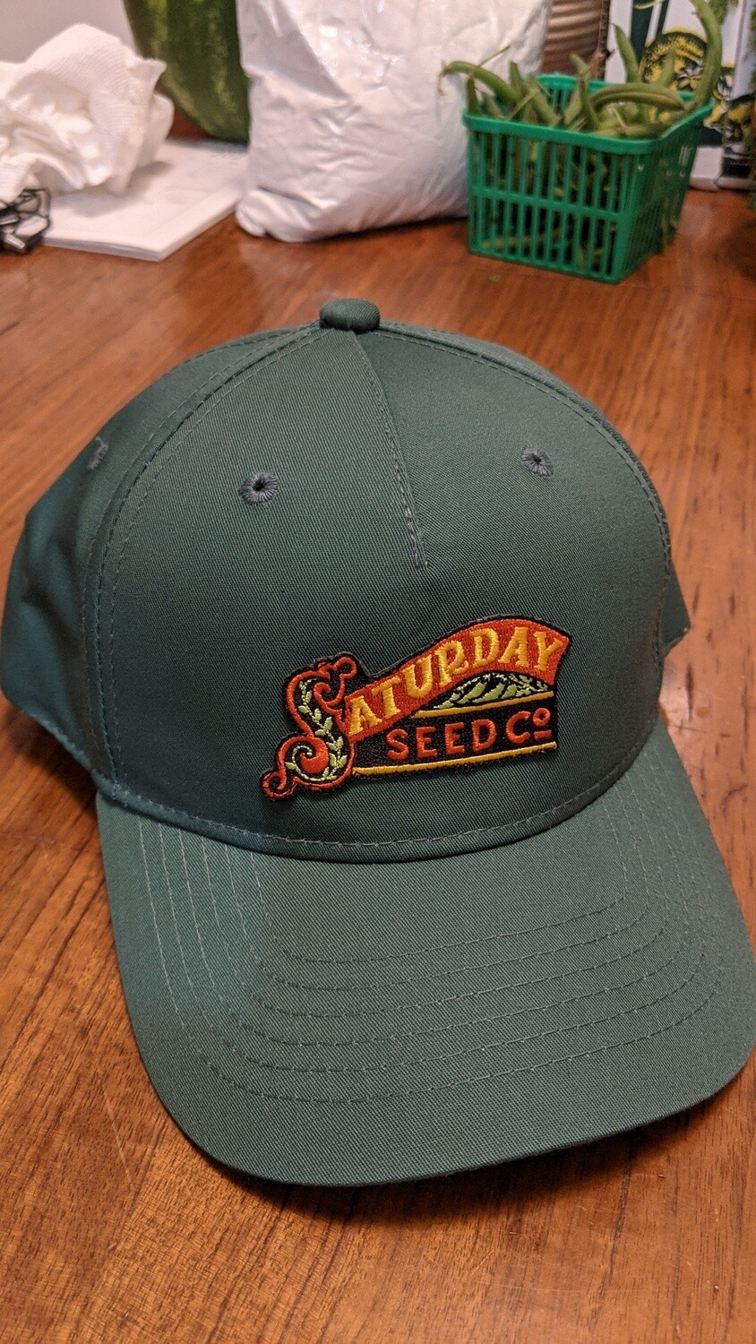 Green Saturday Seed Co. snap back hat