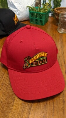 Red Saturday Seed Co. snap back hat