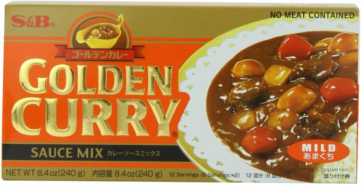 CURRY JAPONES S&B PICANTE SUAVE