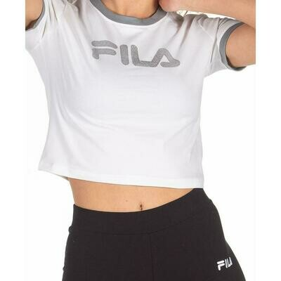FILA PRENDAS FEMENINO T-SHIRT_CROP TIONNE WHITE/LEAD/SILVER