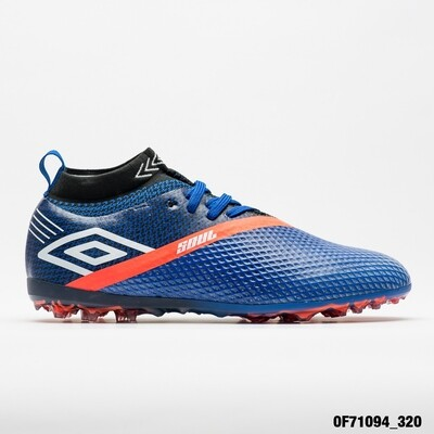 UMBRO CALZADOS FUTBOL SOCIETY MASCULINO SOUL_KNIT ROYAL/WHITE/FIERY_CORAL
