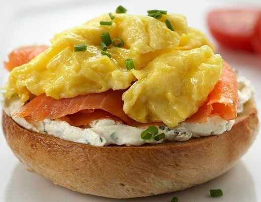 Lox, Egg & Cream Cheese Sandwich