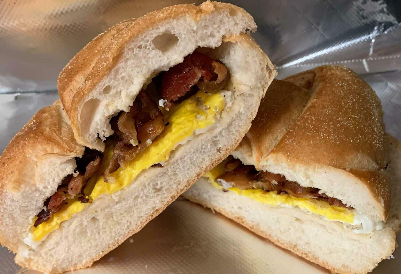 Breakfast Meat & Cheese Sandwich