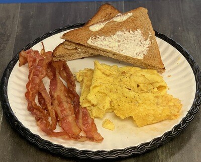Eggs, Meat, Potatoes, Toast Platter