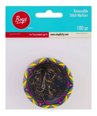 Boye - Metal Removable Stitch Markers - (100 Count)
