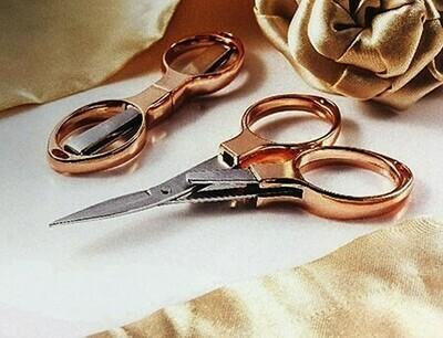 Hemline Folding Scissors - Rose Gold