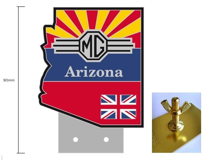 (05) Arizona MG Club Grille Badge
