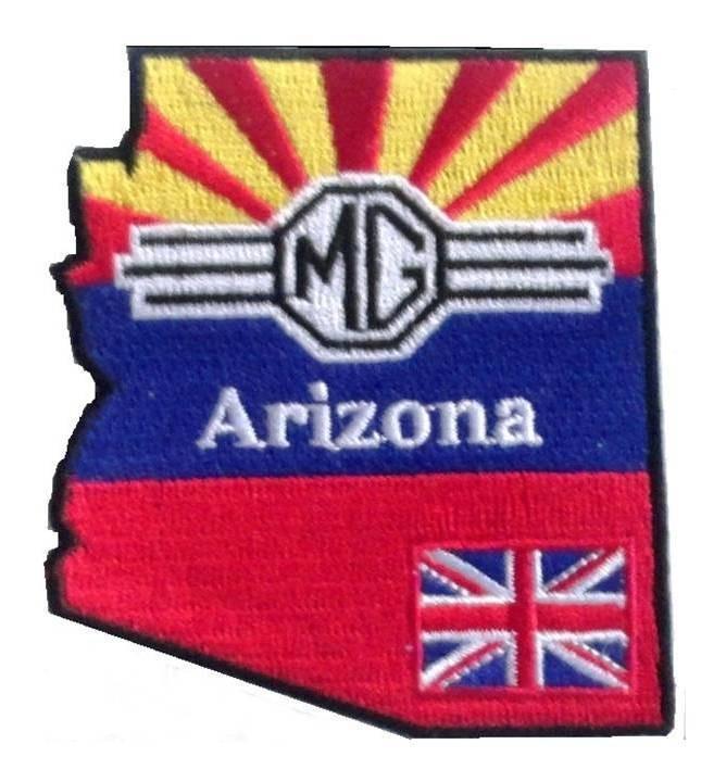 (04)  Arizona MG Club Embroidered Patch