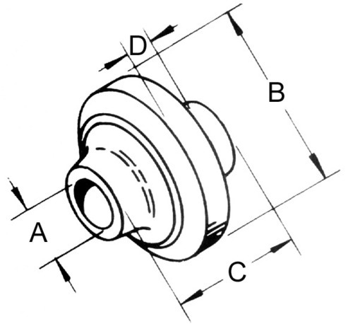 3/4 x 2.25 Shouldered Spherical Ball Joint