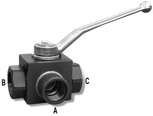 3 Port Ball Valve #12 SAE