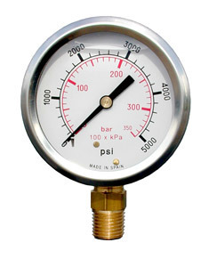 0-3000 PSI Glycerine Filled Gauge