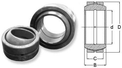 Metric Size Non-Sealed Spherical Bearing