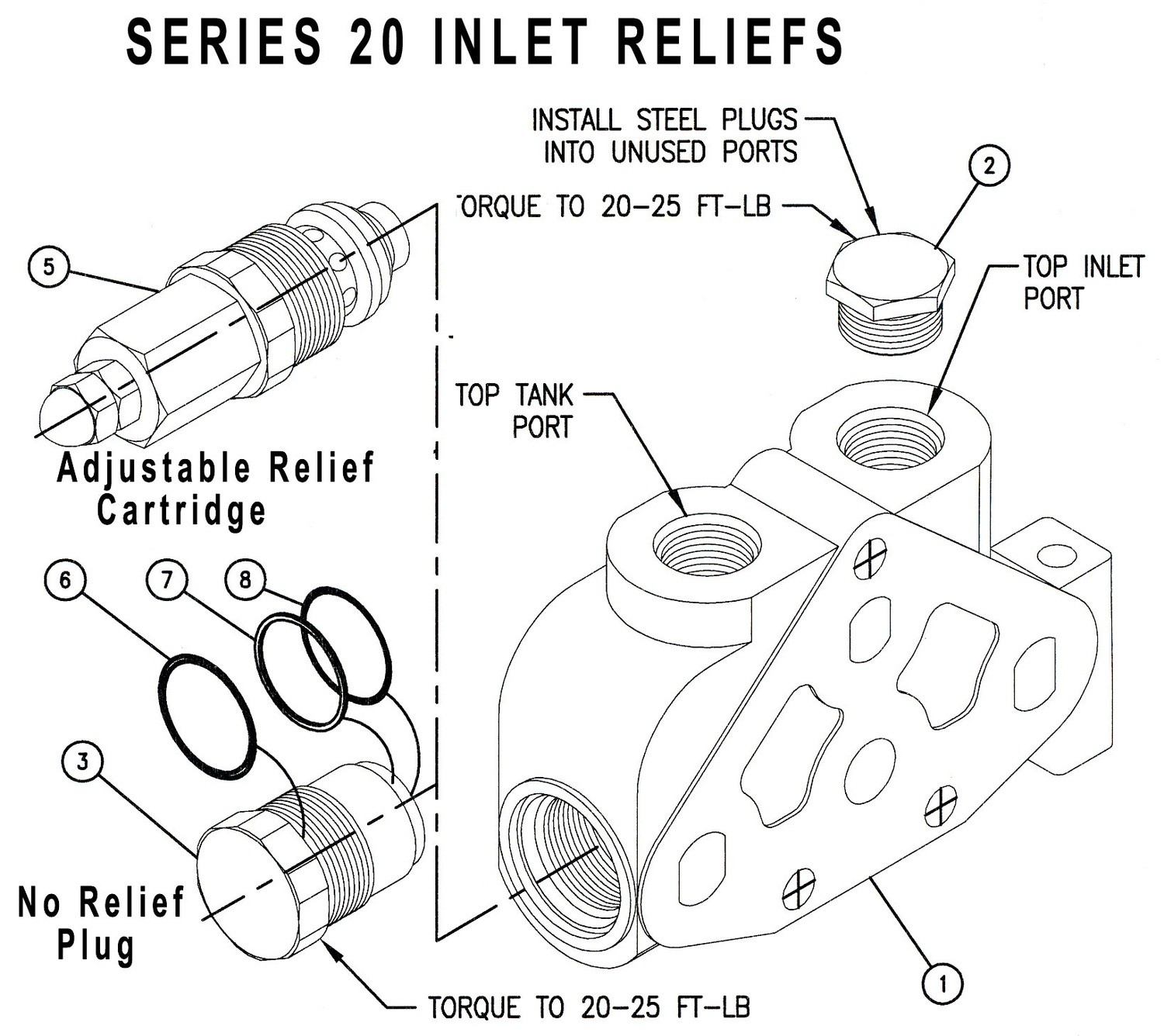 660290203 - INLET RELIEF CARTRIDGE - 1350-1750