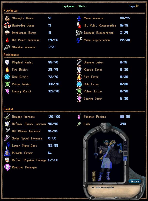 Mystic Glenda Shield Basher Refined + 50 Skills