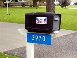 Reflective Address Sign