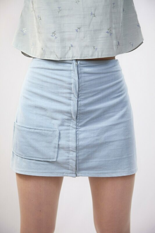 Malaina - Corduroy Mini Skirt